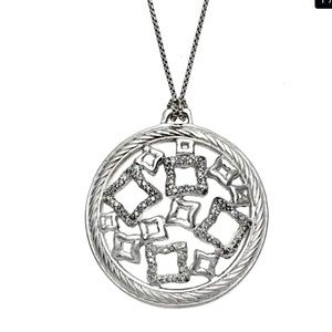 David Yurman SS & White Diamond Pendant